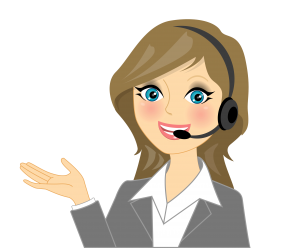 woman with headset studying Spanish